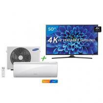 "Smart TV LED 50"" Samsung 4K/Ultra HD 50KU6000 - Conversor Digital + Ar-Condicionado Split Samsung"