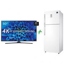 """Smart TV LED 50"""" Samsung 4K/Ultra HD 50KU6000 - Conversor Digital + Geladeira/Refrigerador Samsung"""