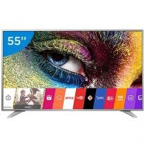 "Smart TV LED 55"" LG 4K Ultra HD 55UH6500 - Conversor Digital 3 HDMI 2 USB Wi-Fi"