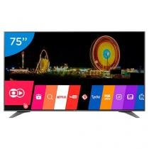 "Smart TV LED 75"" LG 4K Ultra HD 75UH6550 - Conversor Digital 3 HDMI 3 USB Wi-Fi"