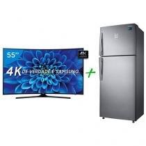 "Smart TV LED Curva 55"" Samsung 4K/Ultra HD - 55KU6300 + Geladeira/Refrigerador Samsung"