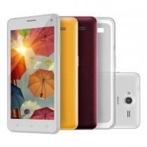 Smartphone 3G Quad Core Dual Chip Branco MS50 - Multilaser - Multilaser