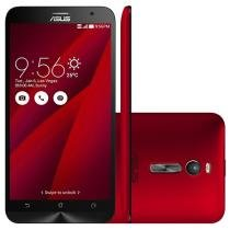 "Smartphone Asus ZenFone 2 32GB Vermelho Dual Chip - 4G Câm. 13MP + Selfie 5MP 5.5"" Full HD Quad Core"
