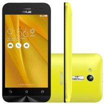 "Smartphone Asus ZenFone Go 8GB Amarelo Dual Chip - 3G Câm. 5MP Tela 4.5"" Proc. Quad Core"