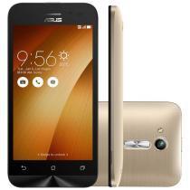 """Smartphone ASUS ZenFone Go Desbloqueado Tela 4,5"""" 8GB 3G Câmera Frontal Dual Chip Android 5.1 Dourado - Dourado - Asus"""