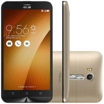 "Smartphone Asus ZenFone Go Live 16GB Gold - Dual Chip 4G Câm. 13MP + Selfie 5MP Tela 5.5"" HD"