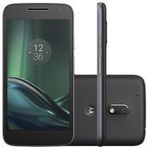"""Smartphone Motorola Moto G 4ª Geração Play 16GB - Preto Dual Chip 4G Câm. 8MP + Selfie 5MP Tela 5"""""""