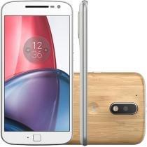 Smartphone Motorola Moto G 4ª Geração Plus Bamboo - 32GB Branco Dual Chip 4G Câm 16MP + Selfie 5MP