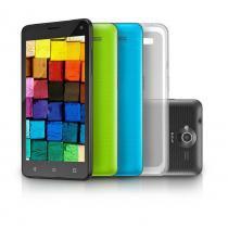 "Smartphone MS50 5 Colors Tela 5"" 8.0MP 3G Quad Core 8GB Android 5.0 Preto Multilaser  - P9030 - Neutro - Multilaser"