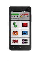 Smartphone MS50 Preto Sênior Phone QuadCore Dual Chip Android Lollipop 5 P9015 - Neutro - Multilaser