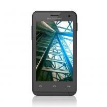Smartphone Multilaser MS40 Cor Preta   Tela 4   Câmera 2 MP  5 MP   3G   Quad Core   4GB   Android 44 - P9007 - Preto - Multilaser