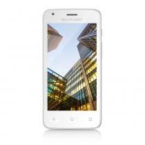 "Smartphone Multilaser MS45S Colors Branco Tela 4.5"" Câmera 3 MP + 5 MP 3G Quad Core 8GB 1GB Android 5.1 - P9012 - Branco - Multilaser"