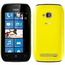 """Smartphone Nokia Lumia 710 Preto e Amarelo GSM Tela Touch 3.7"""" Windows Phone 7.5 Processador 1.4GHz 3G Wi-Fi GPS Câmera 5 MP com LED Flash Filma em HD - Nokia"""