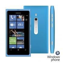 Smartphone Nokia Lumia 800 Azul GSM  Windows Phone 7.5  3G Wi-Fi GPS Câmera 8 MP MP3 Player Bluetooth Memória interna de 16GB - Nokia