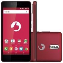 """Smartphone Positivo Twist S520M 16GB Vermelho - Dual Chip 3G Câm. 8MP + Selfie 5MP Tela 5"""""""