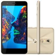 "Smartphone Quantum Müv 16GB Mirage Gold - Dual Chip 4G Câm. 13MP + Selfie 8MP Tela 5,5"" HD"