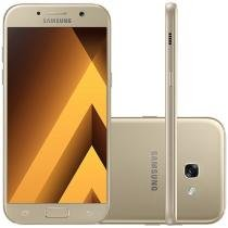 "Smartphone Samsung A7 2017 32GB Dourado Dual Chip - 4G Câm. 16MP + Selfie 16MP 5.7"" Proc. Octa Core"