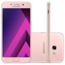 """Smartphone Samsung A7 2017 32GB Rosa Dual Chip - 4G Câm. 16MP + Selfie 16MP 5.7"""" Proc. Octa Core"""