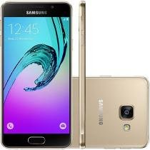 "Smartphone Samsung Galaxy A3 2016 16GB Dourado - Dual Chip 4G Câm. 13MP + Selfie 5MP Tela 4.7"" HD"