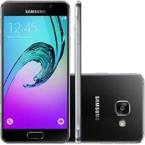 "Smartphone Samsung Galaxy A3 2016 16GB Preto - Dual Chip 4G Câm. 13MP + Selfie 5MP Tela 4.7"" HD"