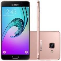 Smartphone Samsung Galaxy A5 2016 Duos 16GB Rosê - Dual Chip 4G Câm 13MP + Selfie 5MP Desbl. Tim