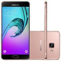 """Smartphone Samsung Galaxy A7 2016 Duos 16GB Rosê - Dual Chip 4G Câm. 13MP + Selfie 5MP Tela 5.5"""" FHD"""