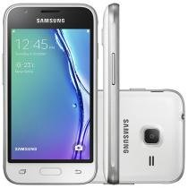 "Smartphone Samsung Galaxy J1 Mini 8GB Branco - Dual Chip 3G Câm. 5MP Tela 4"" Proc. Quad Core"