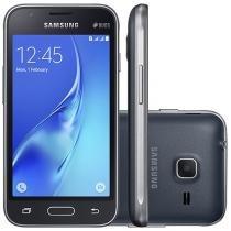"Smartphone Samsung Galaxy J1 Mini 8GB Preto - Dual Chip 3G Câm. 5MP Tela 4"" Proc. Quad Core"