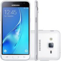 "Smartphone Samsung Galaxy J3 8GB Branco - Dual Chip 4G Câm. 8MP + Selfie 5MP Tela 5"" HD"