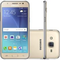 Smartphone Samsung Galaxy J5 Duos 16GB Dourado - Dual Chip 4G Câm. 13MP + Selfie 5MP com Flash