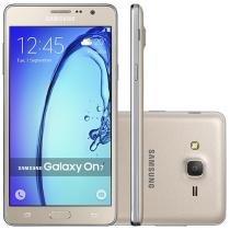 "Smartphone Samsung Galaxy On 7 8GB Dourado - Dual Chip 4G Câm. 13MP + Selfie 5MP Tela 5.5"" HD"