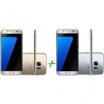 Smartphone Samsung Galaxy S7 Edge 32GB Dourado 4G - Câm. 12MP + Smartphone Samsung Galaxy S7 Edge 32GB