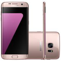 "Smartphone Samsung Galaxy S7 Edge 32GB Rosê - 4G Câm. 12MP + Selfie 5MP Tela 5.5"" Quad HD"