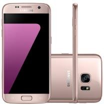 "Smartphone Samsung Galaxy S7 Flat 32GB Rosê - 4G Câm. 12MP + Selfie 5MP Tela 5.1"" Quad HD"