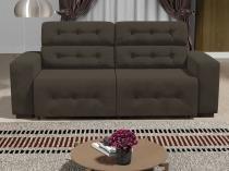 Sofá 4 Lugares Retrátil e Reclinável - Revestimento Suede Prince - Linoforte