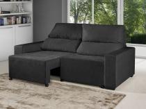 Sofá Retrátil Reclinável 3 Lugares Suede Elegance - American Comfort