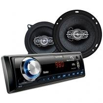 Som Automotivo Multilaser Wave Fiesta MP3 Player - Rádio FM Entrada USB Micro SD Auxiliar