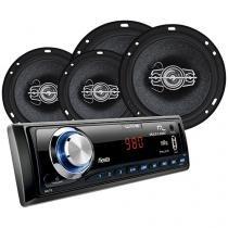 Som Automotivo Multilaser Wave Fiesta - MP3 USB Entrada SD e Auxiliar + Kit Instalação