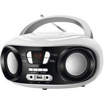 Som Portátil Mondial Rádio FM 6W Display Digital - BX-14 Up White Entrada USB MP3 Fone de Ouvido