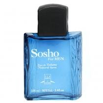 Sosho For Men Eau de Toilette Via Paris - Perfume Masculino - 100ml - Via Paris