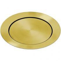 Sousplat Inox Dourado - Tramontina Doratta Estilo Elegante