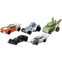 Star Wars Carros Hot Wheels Mattel CGX36 5 Peças - Mattel