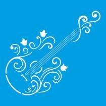 Stencil Especial Guitarra 10X10 STX-103 - Litoarte - Litoarte