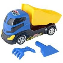 Super Caminhão Caçamba Homeplay - com Acessórios