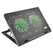 Suporte com Cooler e Led Verde Luminoso para Notebook AC267 - Multilaser - Multilaser