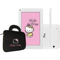 "Tablet DL Hello Kitty Tab 4GB Tela 7"" Wi-Fi - Android 4.4 Proc. Cortex A9 Câm. 2MP com Bolsa"
