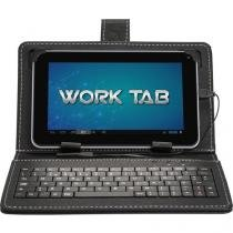 "Tablet DL Work 4GB Tela 7"" Wi-Fi Android 4.4 - Proc. Dual Core Câmera Frontal Capa com Teclado"