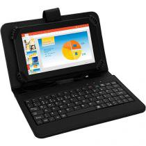 "Tablet Multilaser M7S 8GB Tela 7"" Wi-Fi Android - 4.4 Proc. Quad Core Câm. 2MP + Frontal com Teclado"