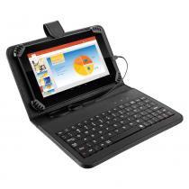 Tablet Multilaser M7S Preto com Teclado e Capa, Quad Core Android 4.4 Kit Kat Câmera 2.0MP Wi-Fi Tela 7 Memória 8GB - NB196 - Preto - Multilaser