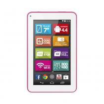 Tablet Multilaser ML Supra Rosa Quad Core Android 4.4 Kit Kat Dual Câmera Wi-Fi Tela 7 Memória 8GB NB201 - Neutro - Multilaser